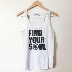 soul cycle | find your soul white tank large